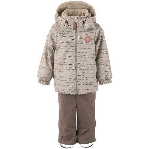 Купить Комплект с полукомбинезоном KERRY Denis K21014 01131/02991/06571 размер 98, 01131 бежевый/ песочный, Комплекты верхней одежды
