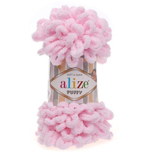 Купить Пряжа для вязания Alize 'Puffy' 100г 9м (100% микрополиэстер) (31 св.розовый), 5 мотков