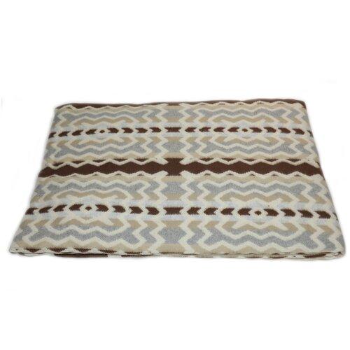 Одеяло байковое Ярослав 140х205 см 1,5 спальное, серо-коричневый зигзаг