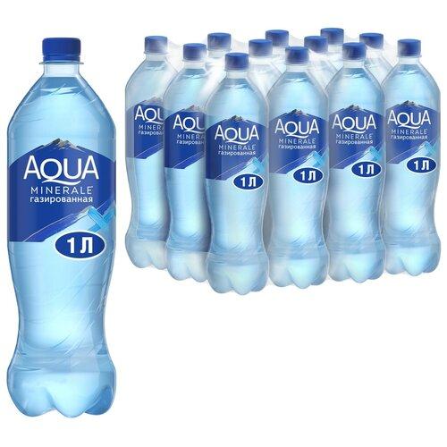 Фото - Вода питьевая Aqua Minerale газированная, ПЭТ, 12 шт. по 1 л вода питьевая aqua minerale негазированная 2 л