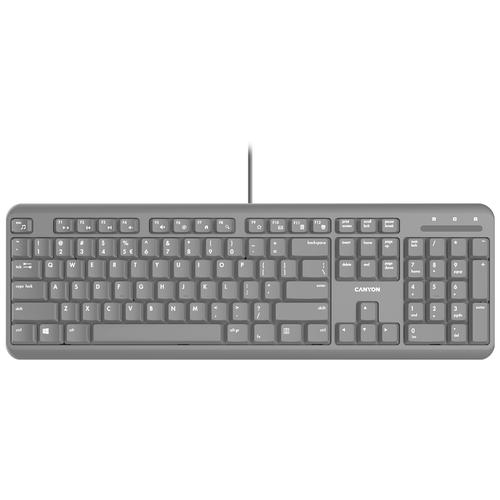 Проводная клавиатура Canyon CNS-HKB02-RU, черный