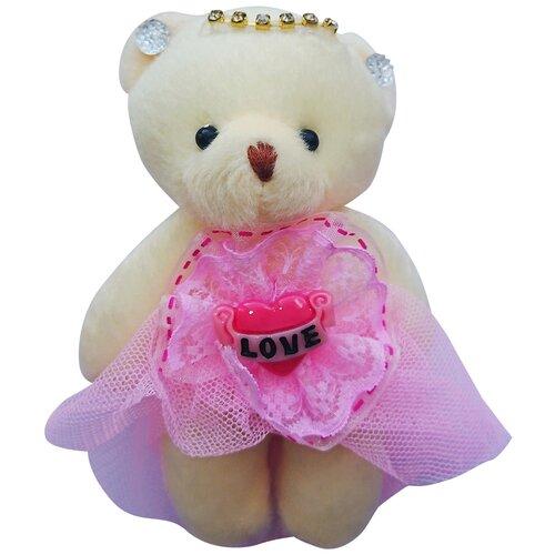 Набор мягких игрушек Мишка в светло-розовом сетка 5 шт.