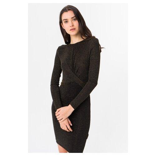 платье only only on380ewcaxr7 Платье ONLY 15189967 женское Цвет Коричневый black gold Однотонный р-р 44 M