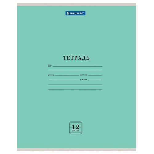 Купить Тетрадь 12 л. BRAUBERG ЭКО , линия, обложка плотная мелованная бумага, ЗЕЛЕНАЯ ПАСТЕЛЬНАЯ, 105673, Тетради