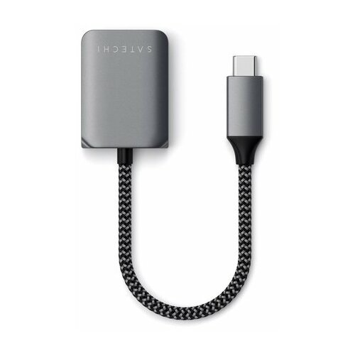Адаптер Satechi USB-C to Audio PD Charger Adapter. Цвет: серый космос (ST-UCAPDAM)
