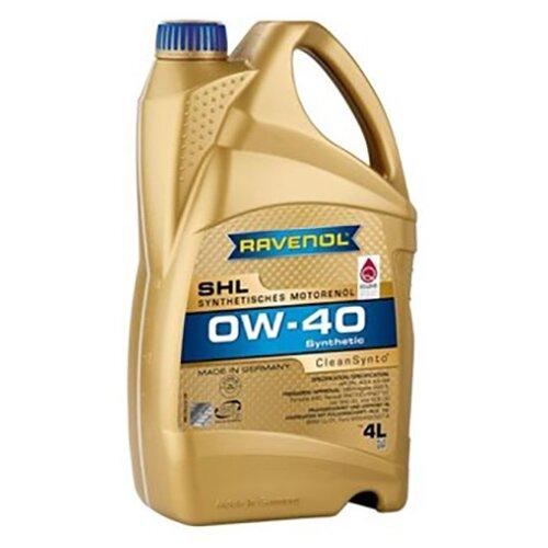 Синтетическое моторное масло Ravenol SHL SAE 0W-40 4 л моторное масло ravenol super synthetik öl ssl sae 0w 40 5 л