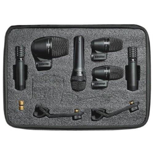 SHURE PGADRUMKIT6 Набор микрофонов для ударных, включает 1 PGA52, 2 PGA56s, 1 PGA 57 и 2 PGA81s
