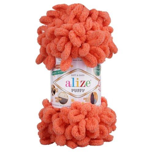 Купить Пряжа для вязания Alize 'Puffy' 100г 9м (100% микрополиэстер) (619 коралловый), 5 мотков