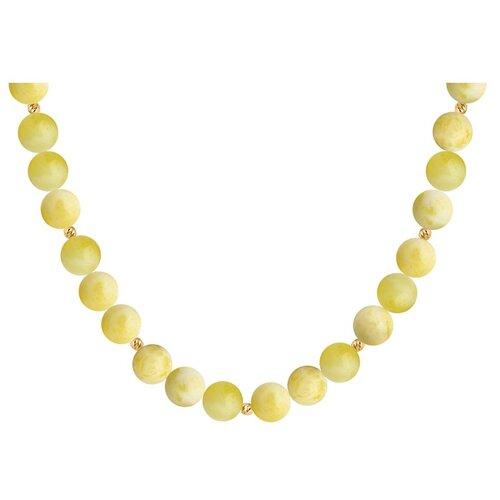 SOKOLOV Колье из золота с янтарём 770350, 45 см, 1.05 г