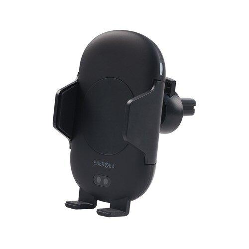 Держатель автомобильный с функцией беспроводной ЗУ EnergEA Auto Sensor Air Vent Mount Black на решетку вентиляции