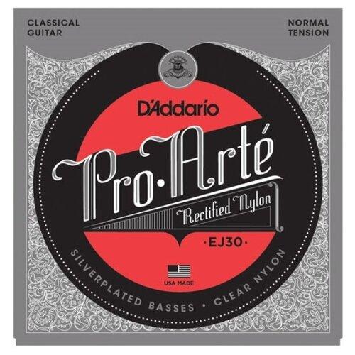 D`ADDARIO EJ30 PRO-ARTE RECTIFIED TREBLES, NORMAL TENSION Струны для классической гитары, нормальное натяжение