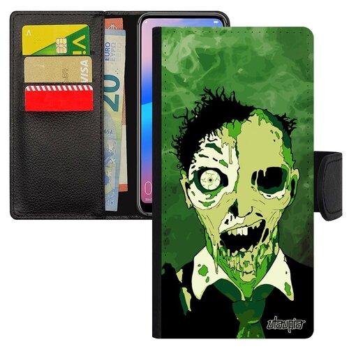 Чехол-книжка на мобильный Хуавей P20 Про уникальный дизайн Зомби Монстр Фантазия