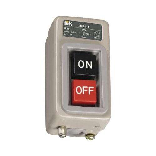 Нажимная кнопка (кнопочный выключатель/переключатель) в сборе IEK ВКИ-211 3Р 6А 230/400В IP40
