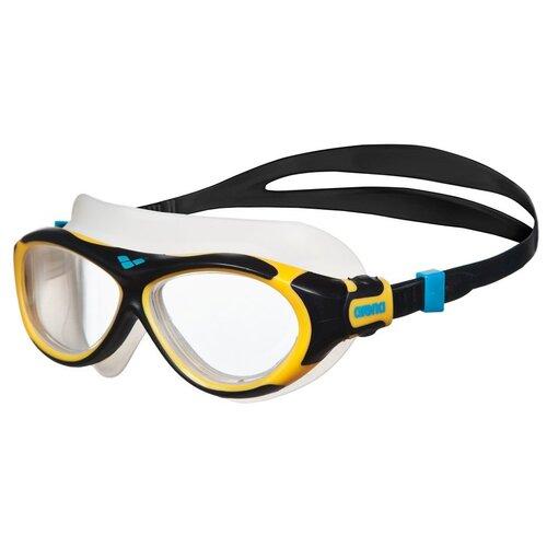 Фото - Очки для плавания arena Oblo Jr, clear-yellow-black очки для плавания arena zoom neoprene 92279 black clear black
