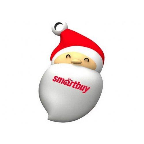 Фото - Флешка SmartBuy NY series Santa-A 16 GB, белый/красный флешка smartbuy ny series snow 16 gb красный белый