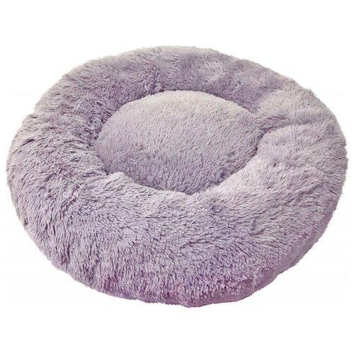Лежак Зоогурман Пушистый сон 60х60х16 см серый