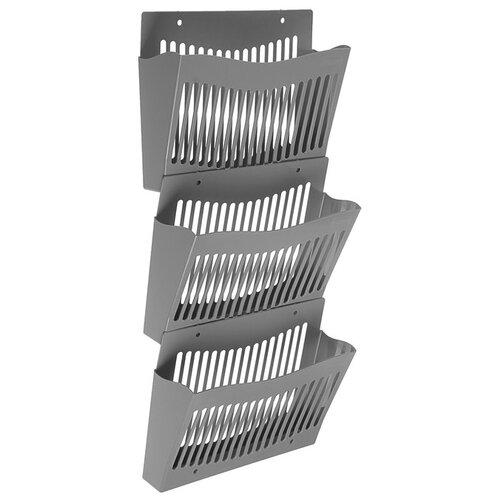Купить Набор настенных лотков СТАММ 3 штуки, серый ЛТ934 3870106, Лотки для бумаги