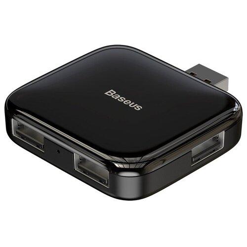 Хаб Baseus Fully Folded Portable 4-in-1 USB to 4xUSB2.0 - Черный (CAHUB-CW01)