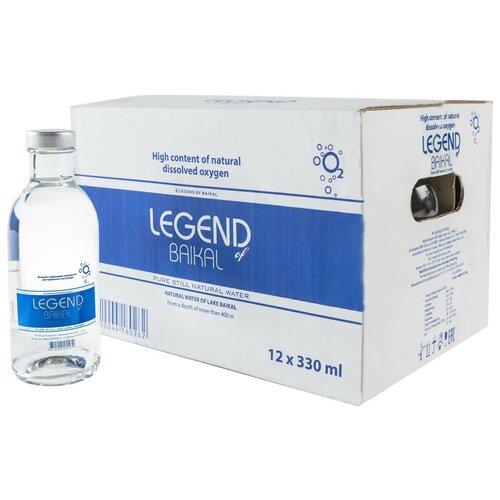 Легенда Байкала. Вода питьевая глубинная - без газа. Стекло 12 шт в упаковке по 0,33 л