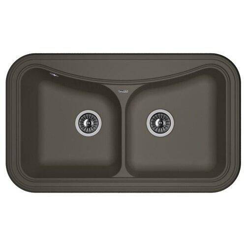 Врезная кухонная мойка 86 см FLORENTINA Крит-860 FS антрацит врезная кухонная мойка 86 см florentina крит 860 fs бежевый