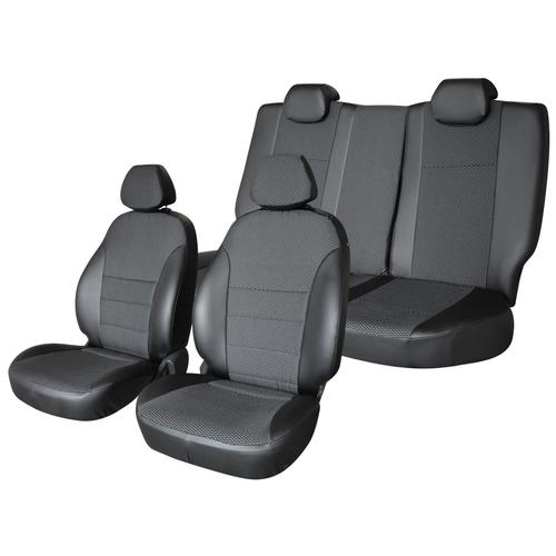 Чехлы на автомобиль Mitsubishi Outlander 2006-2012, 2 поколение, экокожа черн/экокожа перф