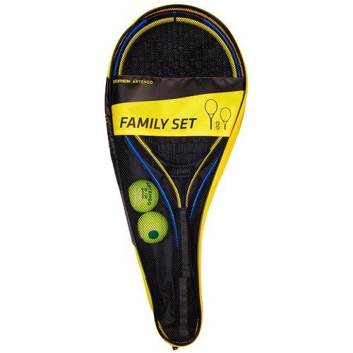 Фото - Набор для игры в большой теннис FAMILY DUO 2 ракетки 2 мяча 1 чехол, размер: NO SIZE ARTENGO Х Декатлон набор для игры в теннис abtoys 2 ракетки 2 мяча на блистере 43x21x4 5