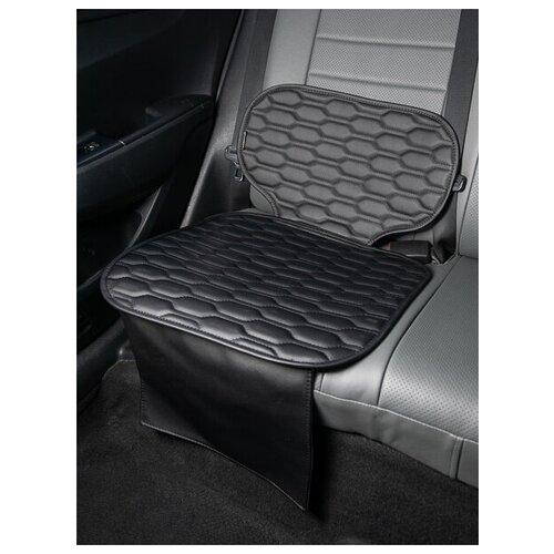 Чехлы (накидки) под бустеры. Защита сидений авто. Цвет: черный. 1 шт. СОЛО