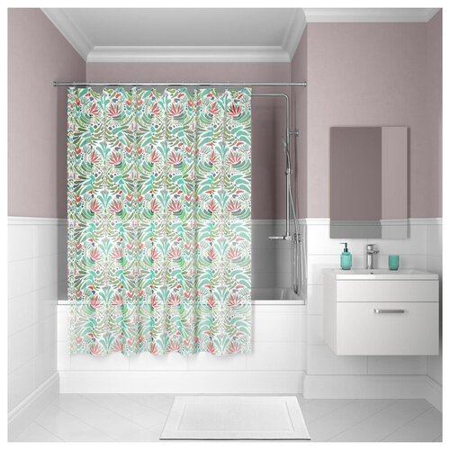 Штора для ванной комнаты, 180*180см, PEVA, P09PV11i11, IDDIS штора для ванной комнаты 180 180см peva p27pv11i11 iddis