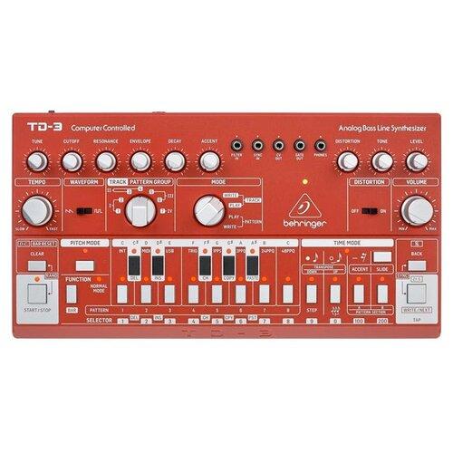Синтезатор BEHRINGER TD-3-SR red