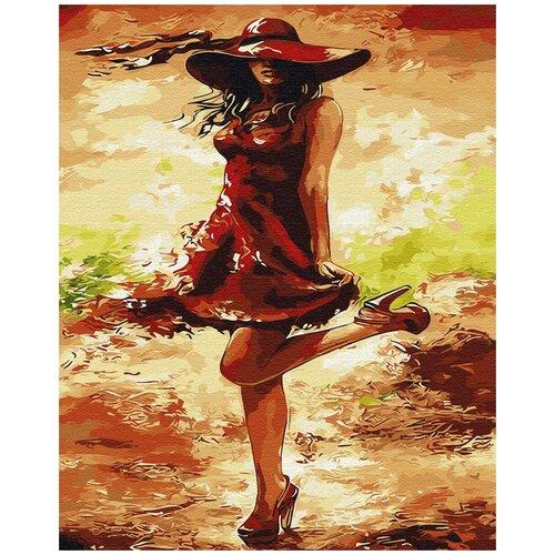 Купить Картина по номерам ВанГогВомне Кокетка в шляпке 40х50 см, ВанГогВоМне, Картины по номерам и контурам