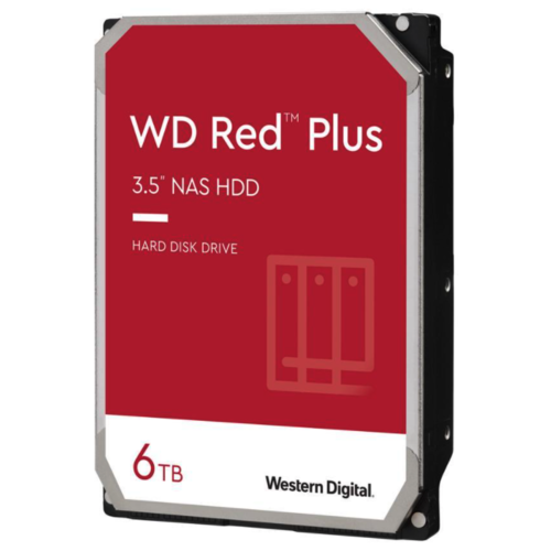 Жесткий диск Western Digital WD Red Plus 6 ТБ NAS CMR 5640 RPM 128МБ кэш (WD60EFZX)