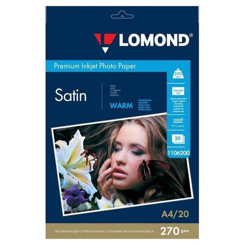 Фото - Бумага Lomond A4 Premium Photo Paper 1106200 270 г/м² 20 лист., тепло-белый бумага lomond a4 premium photo paper 1104101 280 г м² 20 лист белый