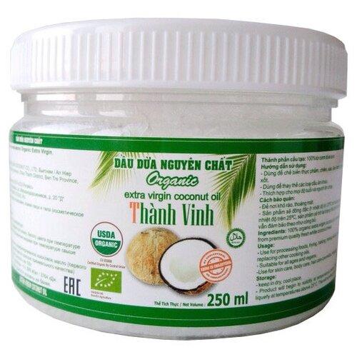 Фото - Thanh Vinh масло кокосовое Organic extra virgin, 0.25 л aroy d масло 100% кокосовое extra virgin 0 18 л