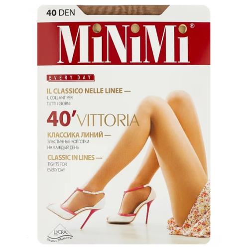 Колготки MiNiMi Vittoria, 40 den, размер 2-S, caramello (бежевый)