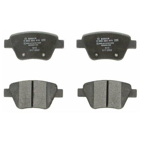 Дисковые тормозные колодки задние Bosch 0986494416 для Audi, Skoda, Volkswagen, SEAT (4 шт.) дисковые тормозные колодки передние bosch 0986494704 для skoda audi seat volkswagen 4 шт