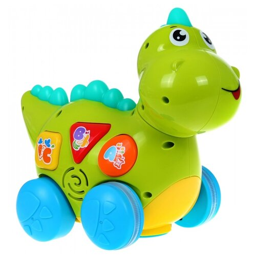 Интерактивная развивающая игрушка Play Smart Расти малыш. Динозаврик (7725/DT), зелeный