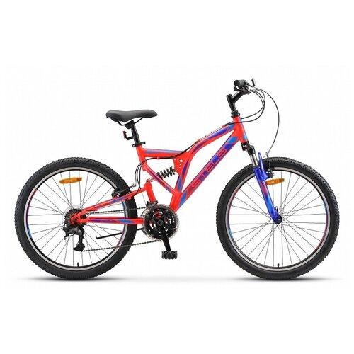 Подростковый горный (MTB) велосипед Stels Mustang V 24 V020 (2019) 16 неоновый-красный (требует финальной сборки) велосипед stels 2612 v