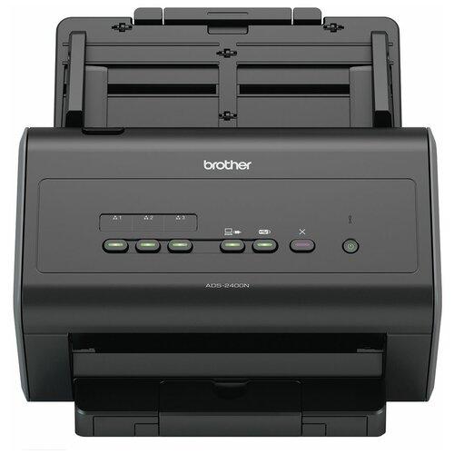 Сканер Brother ADS-2400N черный сканер brother pds 5000