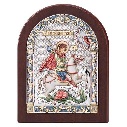 Икона Георгий Победоносец 84128COL, 17х22 см икона valenti георгий победоносец 84260 8х11 см