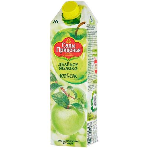 Фото - Сок Сады Придонья Яблоко, с крышкой, без сахара, 1 л сок сады придонья яблоко виноград осветленный 500 мл