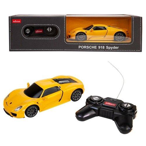 Купить Машина р/у 1:24 PORSCHE 918 Spyder Цвет Желтый 40MHZ, Rastar, Радиоуправляемые игрушки