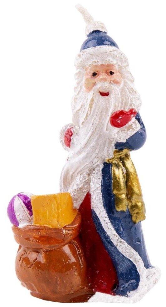 Свеча Феникс Present новогодняя Дедушка мороз с подарками (78324)