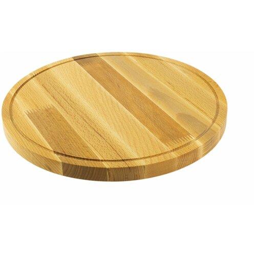 доска разделочная деревянная bohmann bh 02 597 диаметр 25 см Разделочная доска Bohmann 02-560BH, 30 см, коричневый
