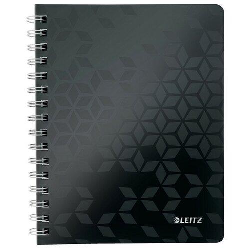Купить Бизнес-тетрадь Leitz WOW, А5, 80л, полипропилен, кл., черный 46410095, Тетради
