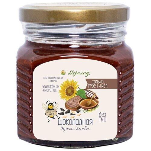 Крем-халва шоколадная 230 г. Натуральная шоколадная халва без сахара. ТМ Мералад.