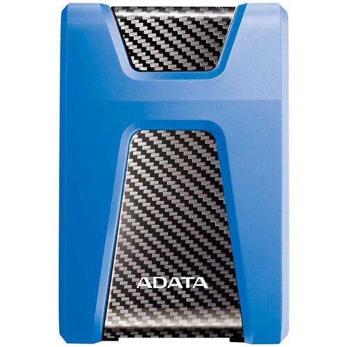 Фото - Внешний HDD ADATA DashDrive Durable HD650 2 TB, синий внешний hdd adata dashdrive durable hd650 2 tb черный