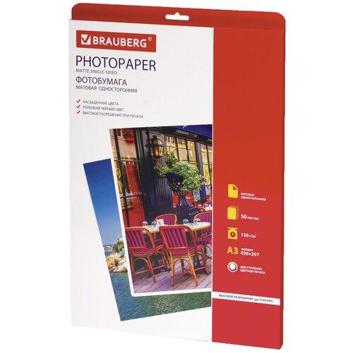 Фото - Бумага BRAUBERG А3 363322 120 г/м² 50 лист., белый бумага brauberg а4 362876 230г м² 50 лист