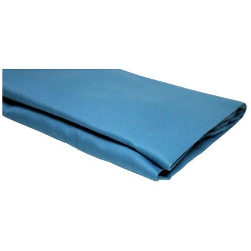 Простыня УЮТНАЯ ИСТОРИЯ сатин на резинке (P16080) голубой