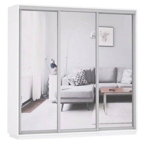 Шкаф-купе для одежды Е1 Экспресс Экспенс Трио, (ШхГхВ): 180х60х240 см, белый снег шкафы купе для одежды