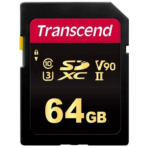 Фото - Карта памяти Transcend TS*SDC700S 64 GB, чтение: 285 MB/s, запись: 180 MB/s карта памяти transcend 32gb 700s sdhc uhs ii u3 v90 285 180 mb s